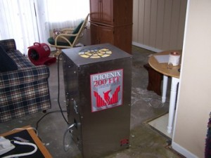 Flood damage dehumidifier